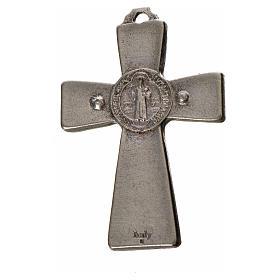 St. Benedict cross 4.8x3.2cm in zamak and white enamel s4