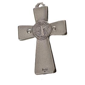 St. Benedict cross 4.8x3.2cm in zamak and blue enamel s4