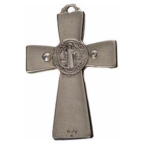 St. Benedict cross 4.8x3.2cm, in zamak and black enamel s2