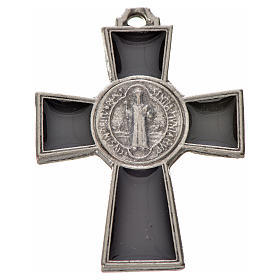 St. Benedict cross 4x3cm, in zamak and black enamel s1