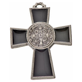 St. Benedict cross 4x3cm, in zamak and black enamel s2