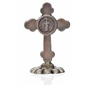 Croce San Benedetto trilobata da tavolo zama 5x3,5 nero s4