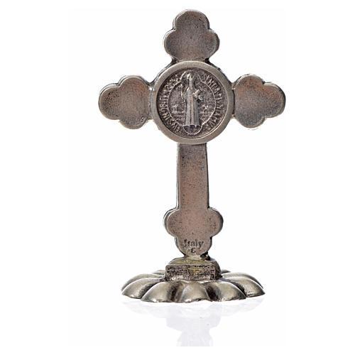 Croce San Benedetto trilobata da tavolo zama 5x3,5 nero 4