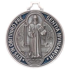 Médaille croix de Saint Benoît 6,5 cm s1