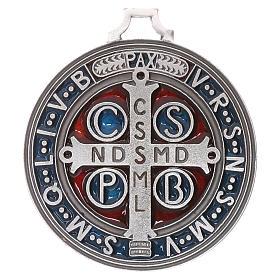 Médaille croix de Saint Benoît 6,5 cm s2