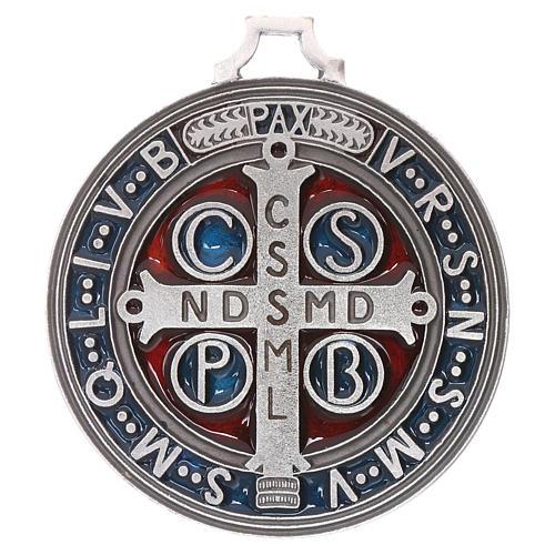 Médaille croix de Saint Benoît 6,5 cm 2