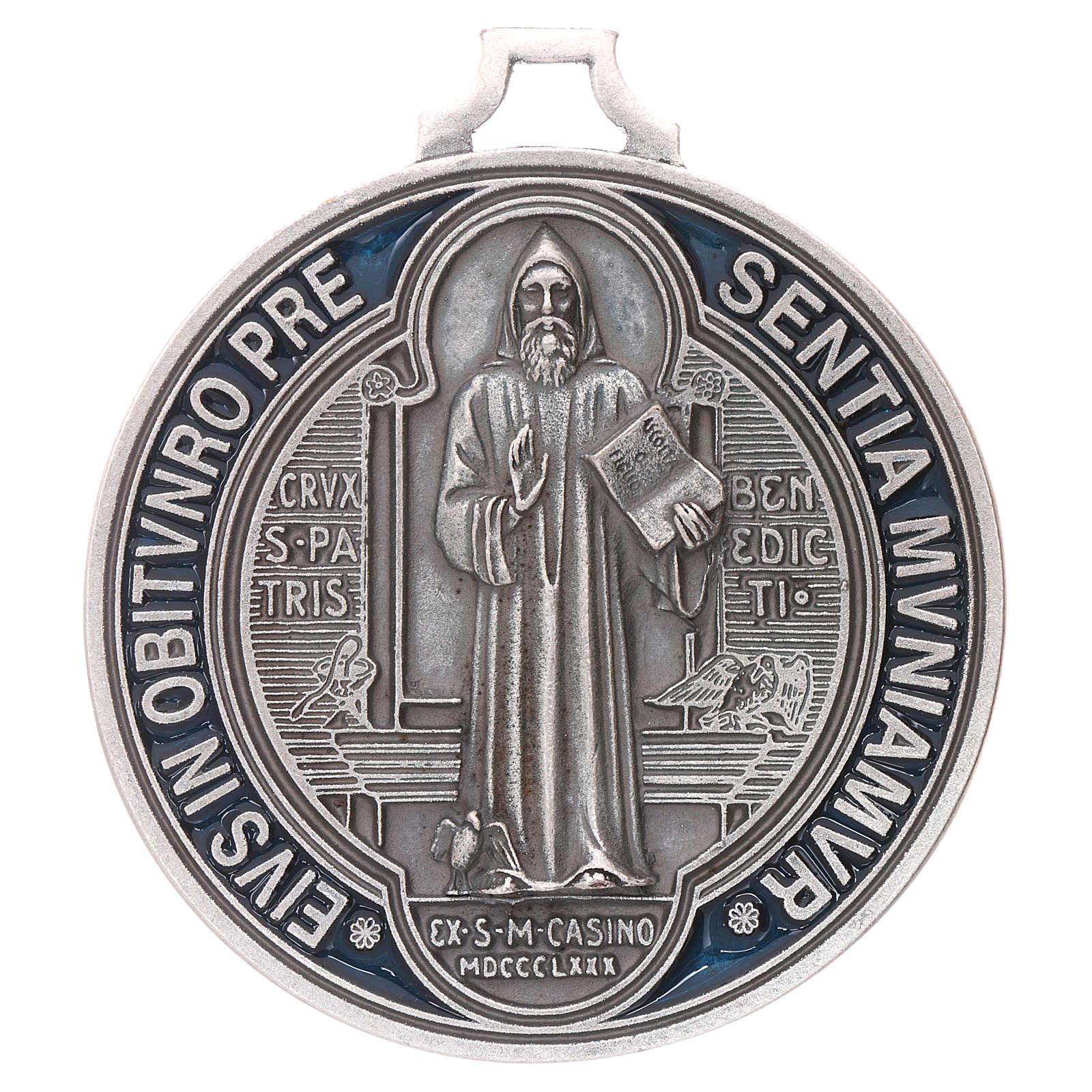 Medaglia croce di San Benedetto cm 6,5 4