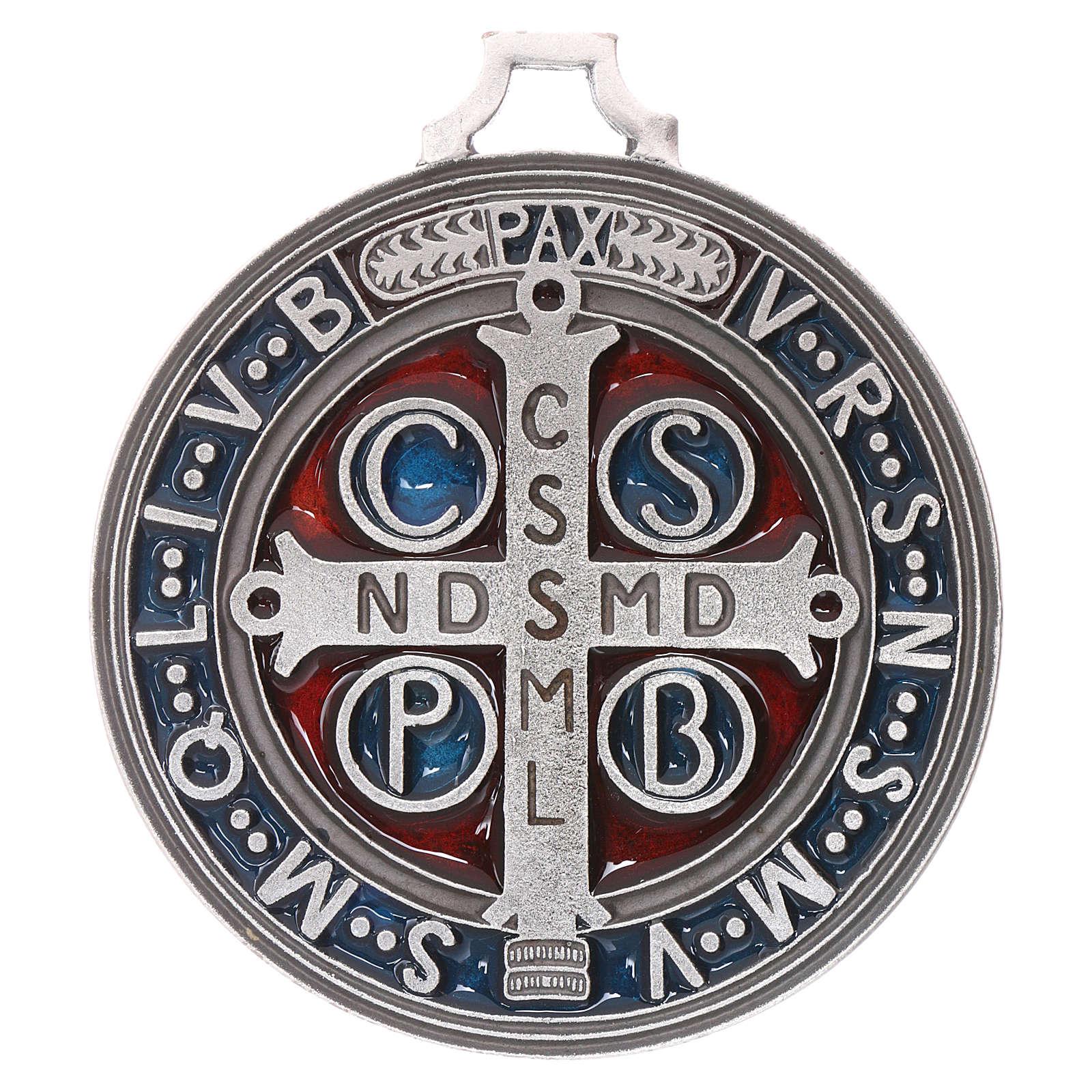 Medalik ze świętym Benedyktem 6,5 cm 4