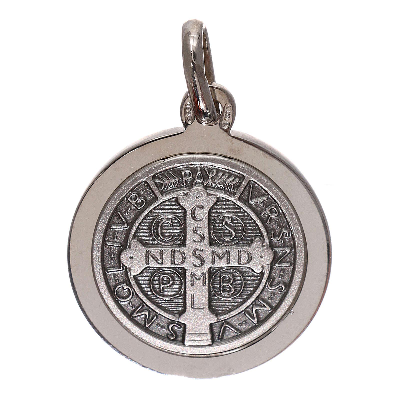 Médaille croix St Benoît argent 925 diam. 16 mm 4