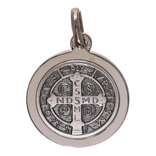 Médaille croix St Benoît argent 925 diam. 16 mm 2
