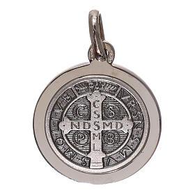 Medaglia croce San Benedetto argento 925 mis. 16 mm