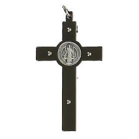 Cruz San Benito de acero negro 6x3 cm s3