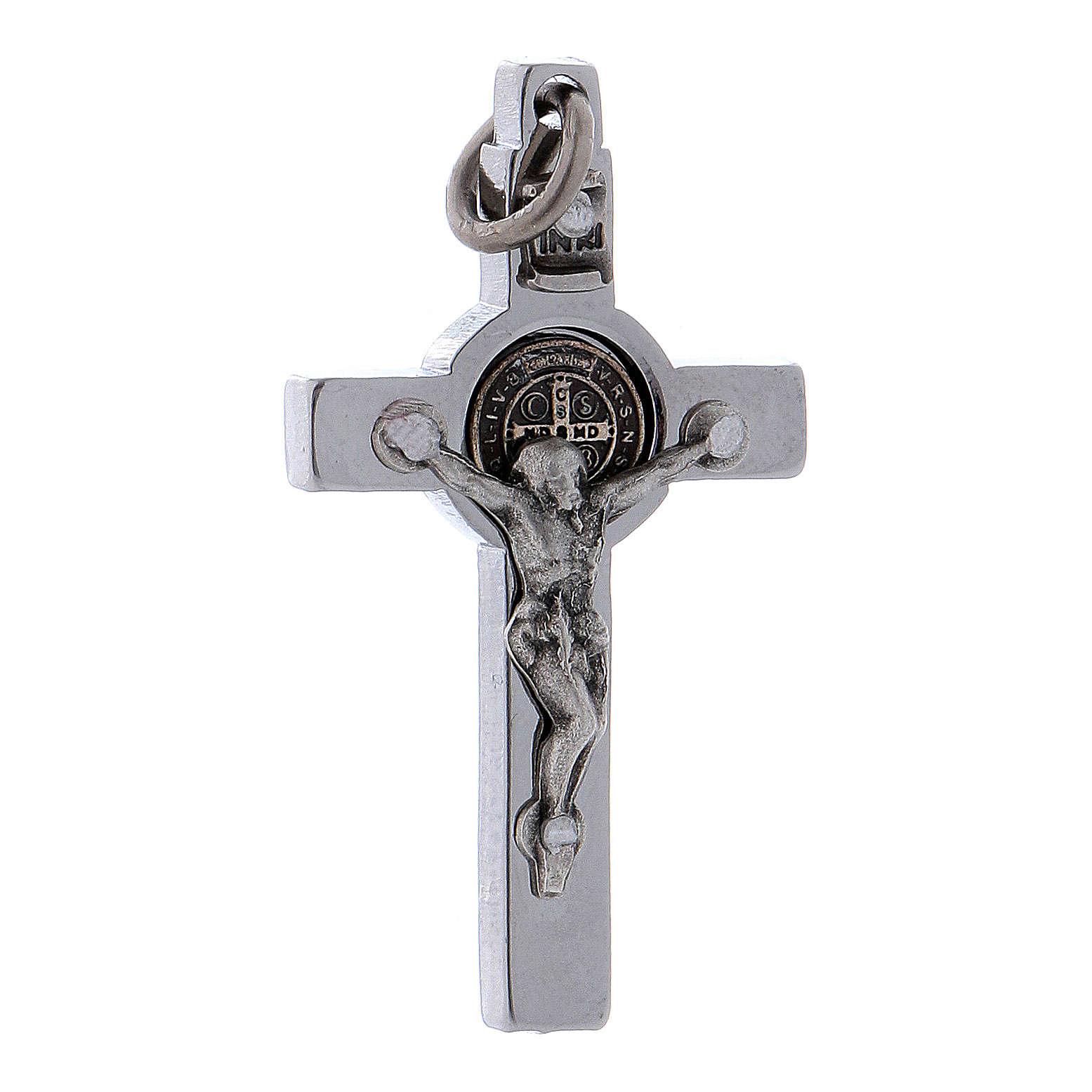 Croce acciaio San Benedetto 4x2 cm  4