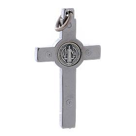 Croce acciaio San Benedetto 4x2 cm