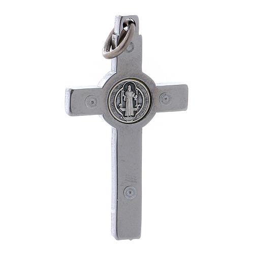 Croce acciaio San Benedetto 4x2 cm  2