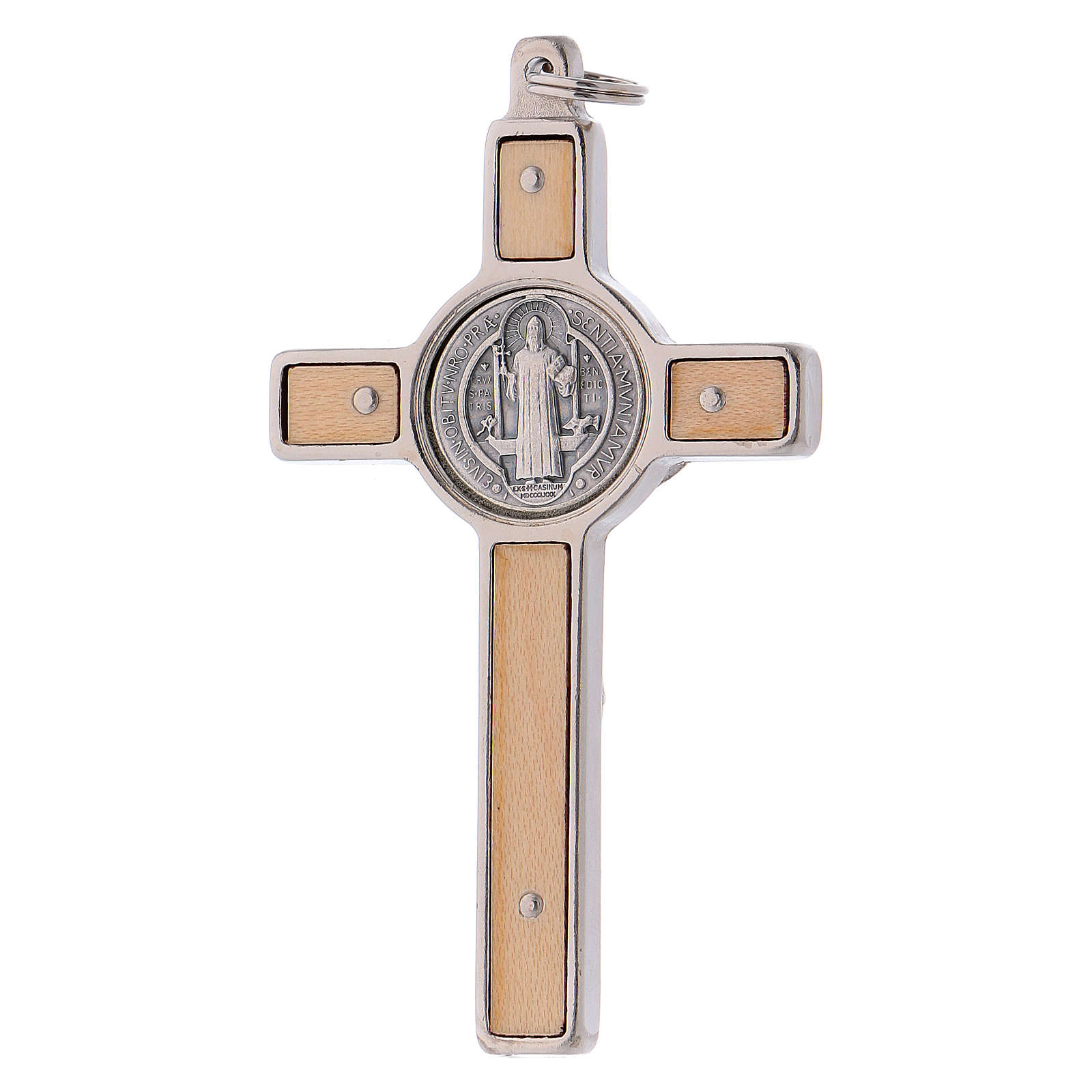 St. Benedict's cross in maple with base 8x4 cm 4