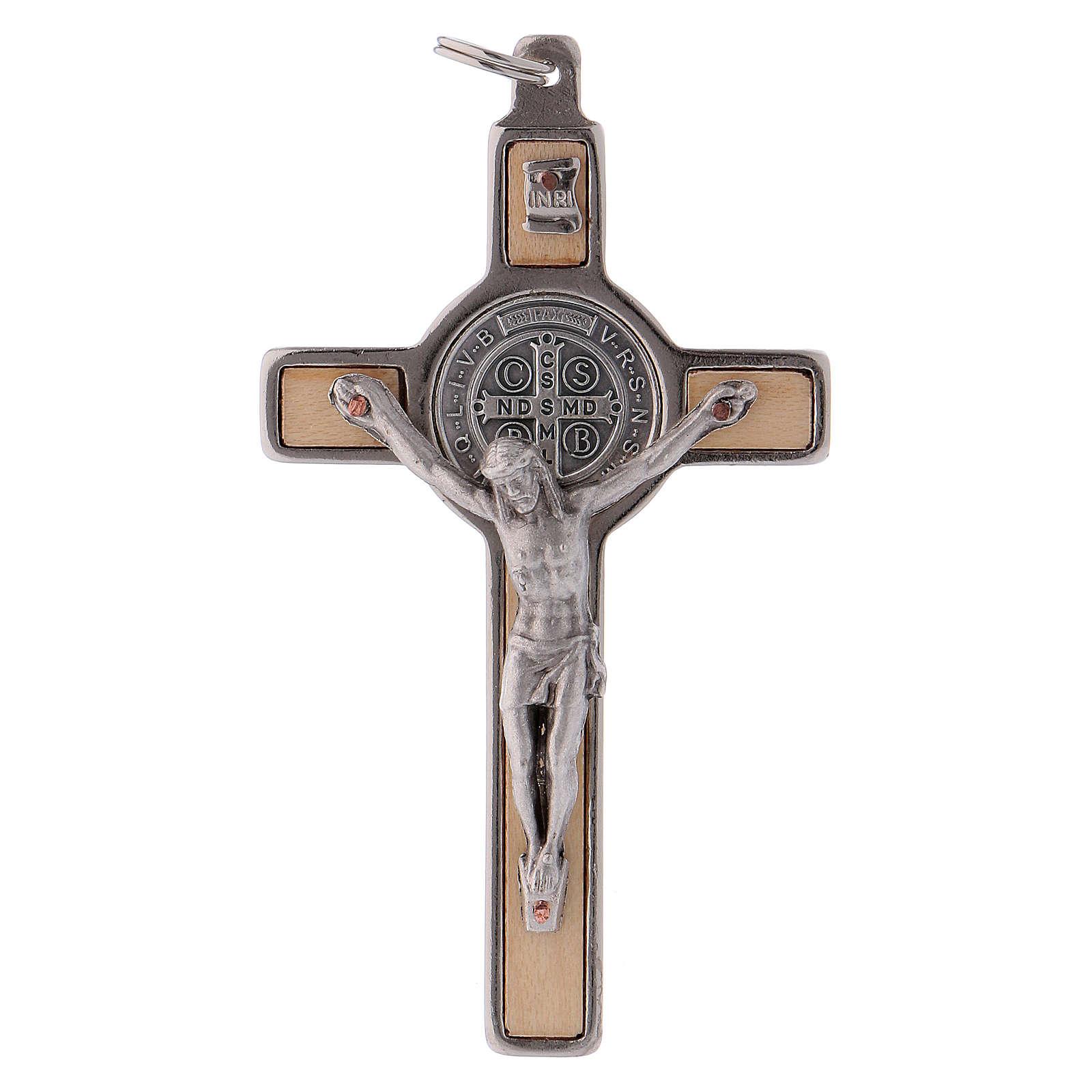 Croce San Benedetto Legno d'acero 8x4 cm 4