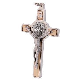 Cruz São Bento madeira de bordo 8x4 cm s2