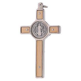 Cruz São Bento madeira de bordo 8x4 cm s3