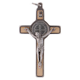 Saint Benedict Cross, in maple wood 8x4 cm s1