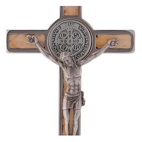 Kreuz von Sankt Benedikt aus Ahornholz, 12 x 6 cm