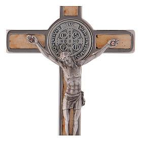 Krzyż Świętego Benedykta drewno klonowe 12x6 cm s2
