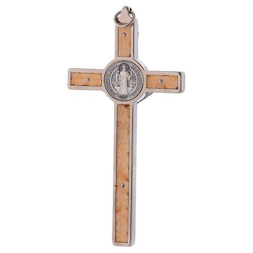 Saint Benedict Cross, 12x6 cm in maple wood 4