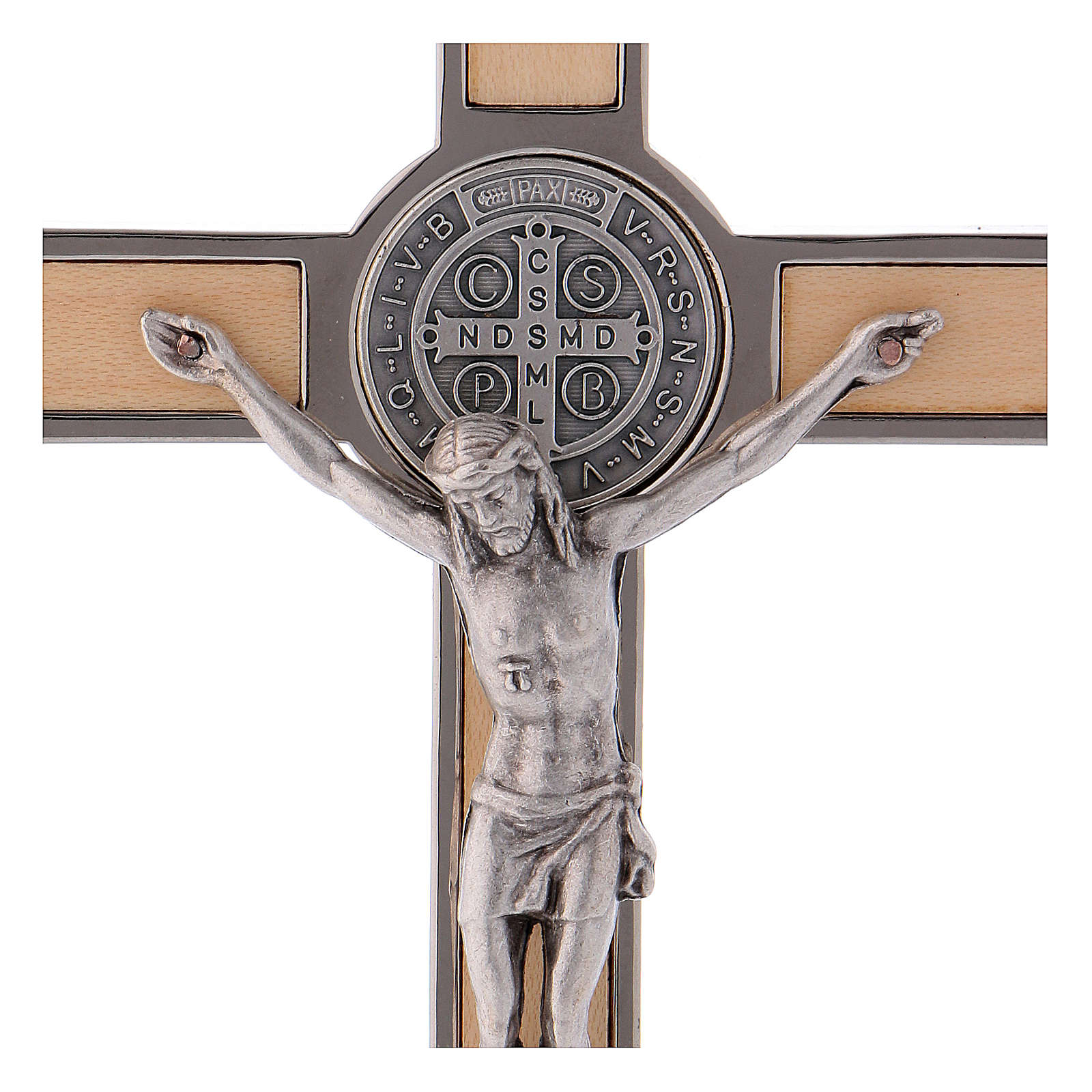 Cruz San Benito Madera de arce 16x8 cm 4