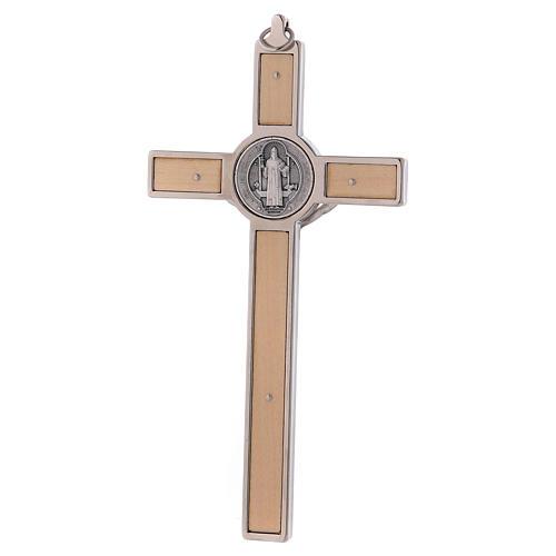 Croix Saint Benoît bois d'érable 16x8 cm 4