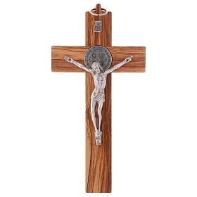 St. Benedict Cross in olive wood 25x12 cm s1