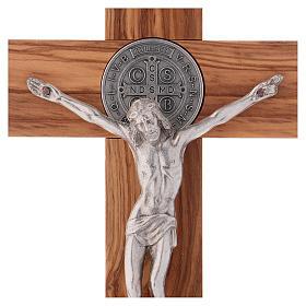St. Benedict Cross in olive wood 25x12 cm s2