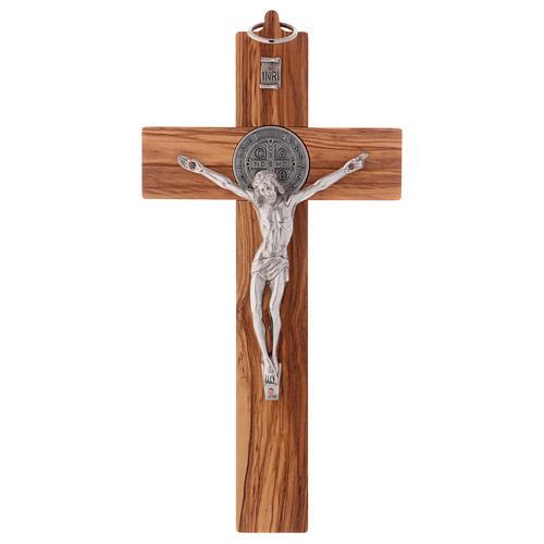 St. Benedict Cross in olive wood 25x12 cm 1