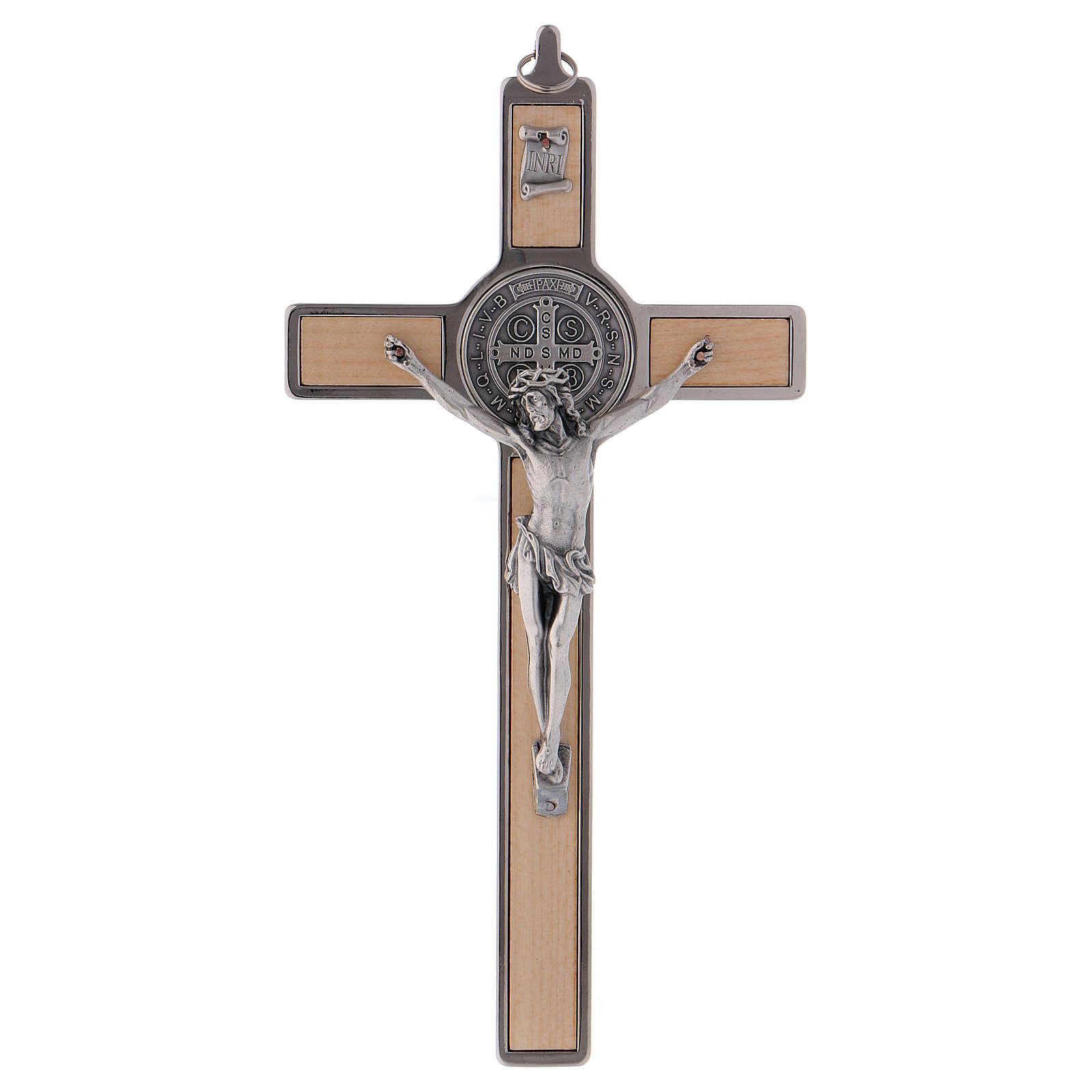 Croce San Benedetto Legno d'acero 20x10 cm 4