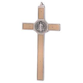 Croce San Benedetto Legno d'acero 20x10 cm s4