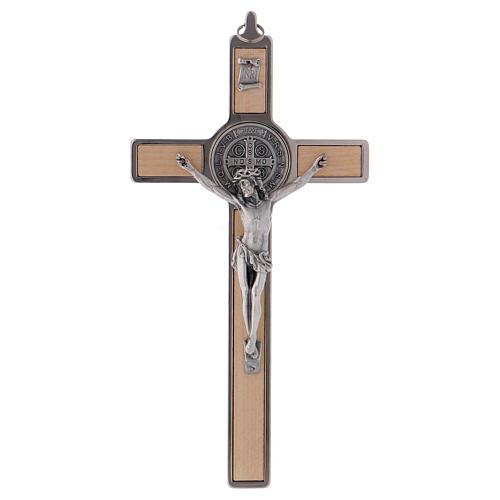 Croce San Benedetto Legno d'acero 20x10 cm 1