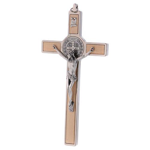 Croce San Benedetto Legno d'acero 20x10 cm 3