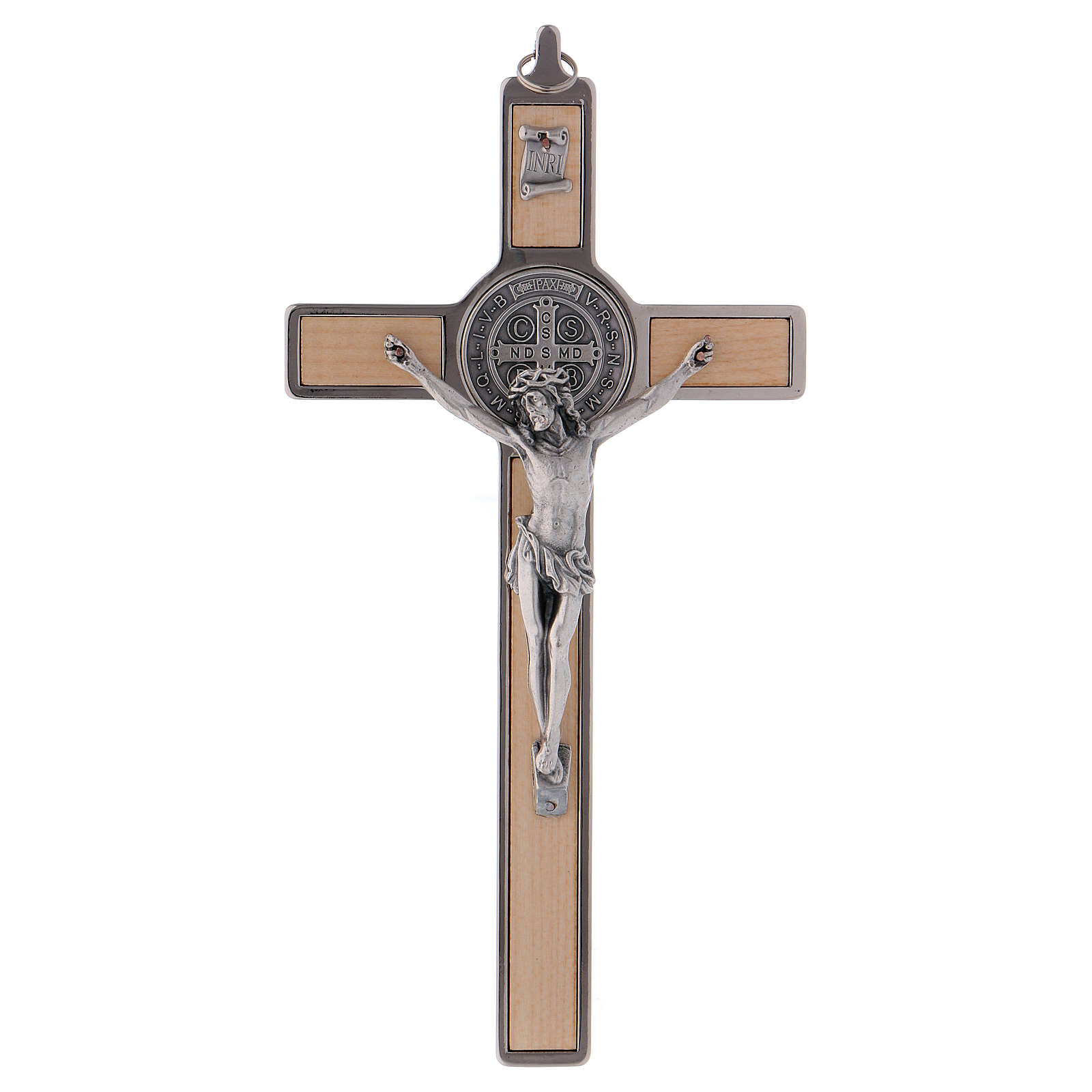 St. Benedict Cross in maple wood, 20x10 cm 4