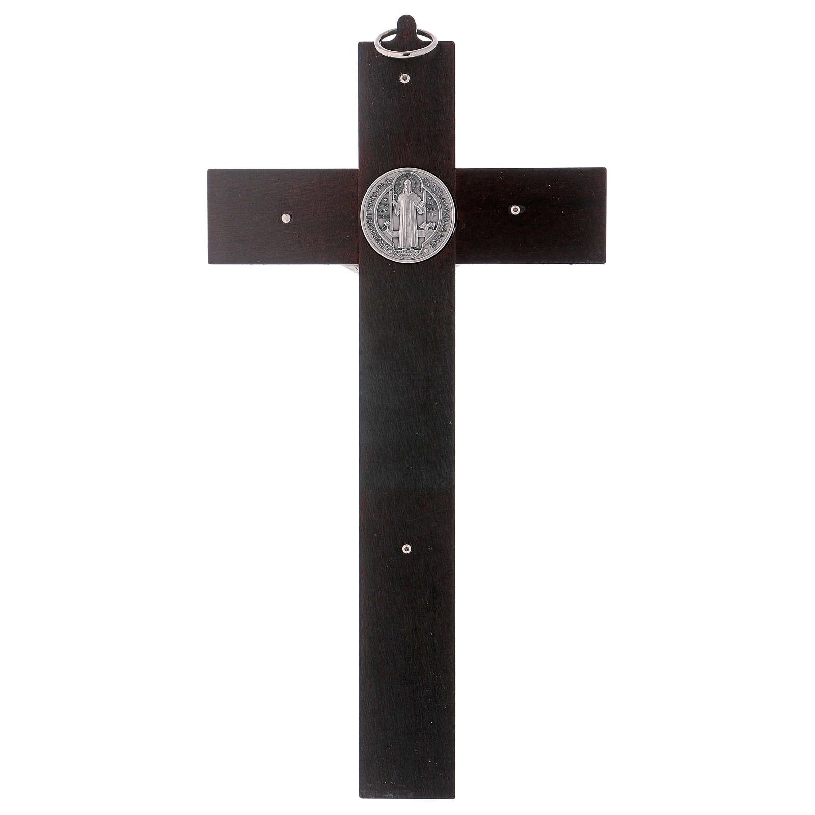 St. Benedict's cross in painted wood 30x15 cm 4
