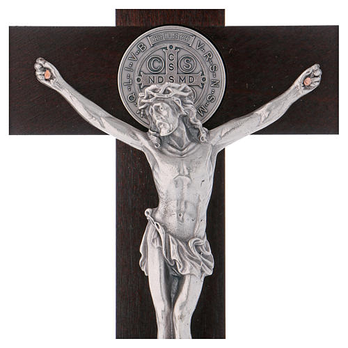 St. Benedict's cross in painted wood 30x15 cm 2