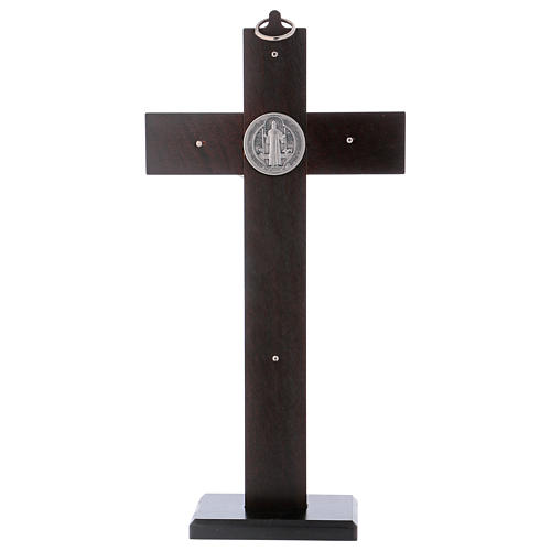St. Benedict's cross in hickory with base 30x15 cm 4