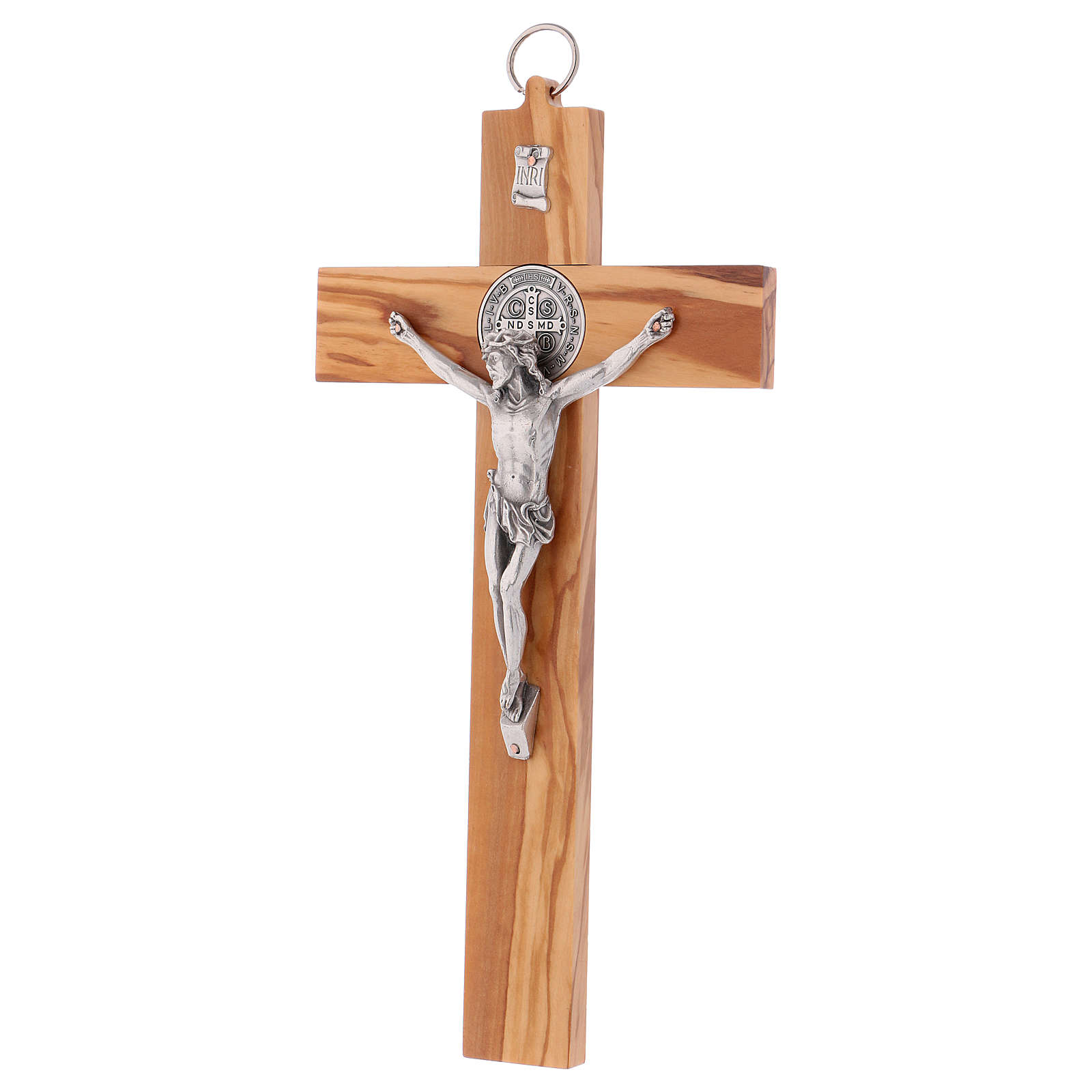 St. Benedict Cross in olive wood, 30x15 cm 4