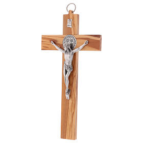 St. Benedict Cross in olive wood, 30x15 cm s3