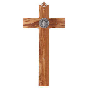 St. Benedict Cross in olive wood, 30x15 cm s4