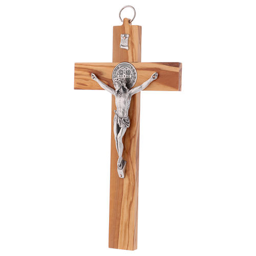 St. Benedict Cross in olive wood, 30x15 cm 3