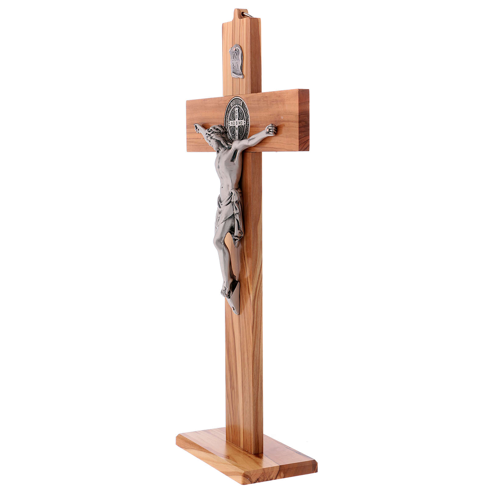 St. Benedict's cross in olive wood 40x20 cm 4