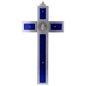 Croix Saint Benoît en aluminium émaillé 30x15 cm s4