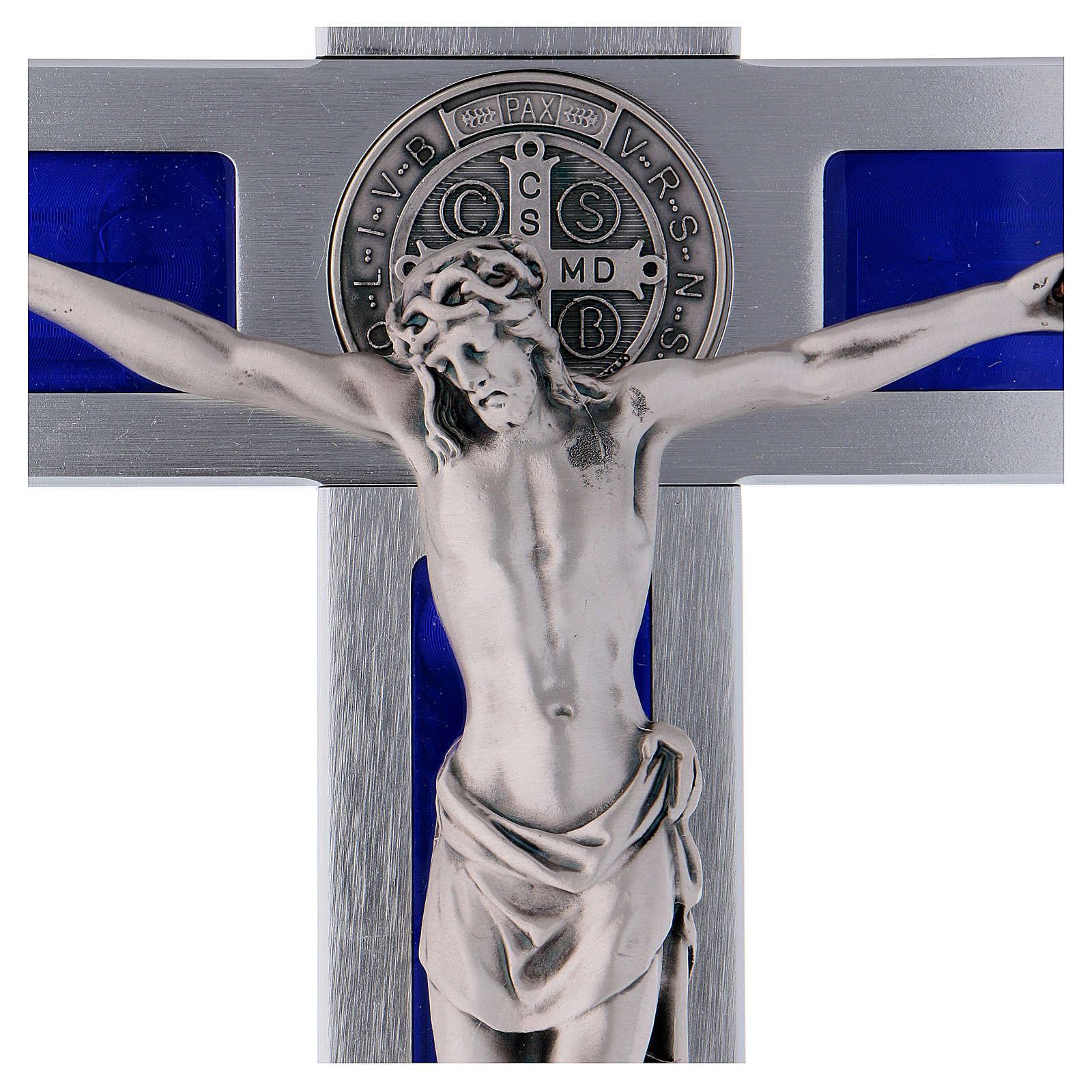 Cruz San Benito de aluminio y esmaltada 40x20 cm 4
