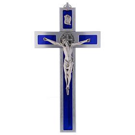 Cruz San Benito de aluminio y esmaltada 40x20 cm s1