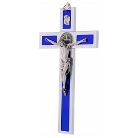 Croix Saint Benoît en aluminium émaillé 40x20 cm s3