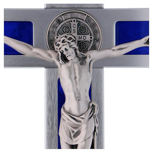 Croix Saint Benoît en aluminium émaillé 40x20 cm 2